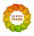 Autumn Leaves Frame in Flat Design vector image vector image