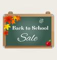 back to school sale background with blackboard vector image vector image