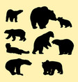 bears silhouette vector image