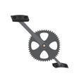 bicycle pedal in a gear vector image vector image
