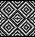 black and white geometrical pattern vector image