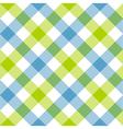 Blue green diagonal checkered plaid seamless vector image vector image