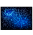 Blue Vintage Wallpaper with Spiral Pattern vector image vector image