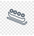 bobsled concept linear icon isolated on vector image