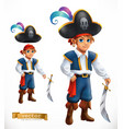 boy pirate 3d icon vector image vector image