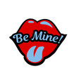 bright speech bubble be mine with shape of vector image