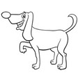 cartoon funny dog character coloring book page vector image vector image