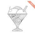 cartoon hand drawn ice cream vector image vector image