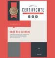 certificate 242 vector image