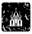 Church icon grunge style vector image vector image