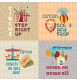 Circus vintage flat pictograms composition vector image vector image