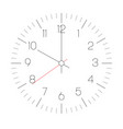 clock face hour dial with numbers and hour vector image