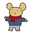 comic cartoon mouse in clothes vector image vector image