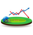 Concept of statistics about the cricket vector image