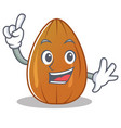 finger almond nut character cartoon vector image