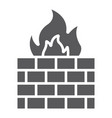 firewall glyph icon fire and security wall sign vector image vector image