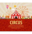 funfair circus performance vector image vector image