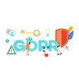 gdpr word design with vector image vector image