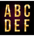 golden shining letters vector image vector image