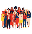 group portrait of international group happy women vector image vector image