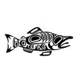 haida fish tattoo vector image vector image