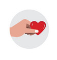 handful heart valentine love and romance vector image vector image