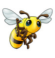 happy waving cartoon bee vector image