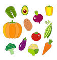 Healthy diet icons fresh organic vegetables vector image vector image