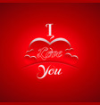 i love you background with hearts vector image