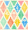 ikat flower rhombus damask seamless pattern vector image vector image