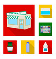 isolated object of hospital and help icon vector image vector image
