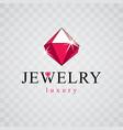 luxury faceted decorative element brilliant vector image