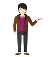 Man writing with pencil vector image