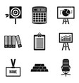 mint icons set simple style vector image vector image