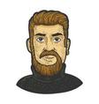 monkey tail beard sketch vector image vector image