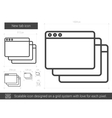 New tab line icon vector image vector image