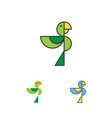 parrot logo template macaw logotype set bird vector image vector image