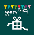party card design vector image