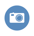 Photo camera icon in blue circle vector image vector image