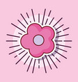 pink cute flower decoration cartoon style vector image vector image