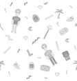 pixel art 90s retro style grayscale seamless