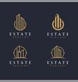 real estate logo set template vector image