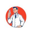 Scientist Lab Researcher Chemist Cartoon vector image vector image