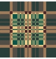 Seamless tartan pattern repeated plaid twill tile vector image