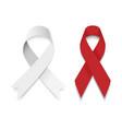 set gray and red ribbon vector image vector image
