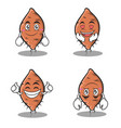 set yam character cartoon collection vector image