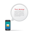 Smartphone and bubble talk message vector image vector image