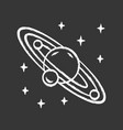 solar system chalk icon celestial bodies orbiting vector image