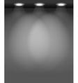 Spotlit Wall vector image vector image