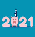 stand number 2021 money saving in 2021 vector image vector image